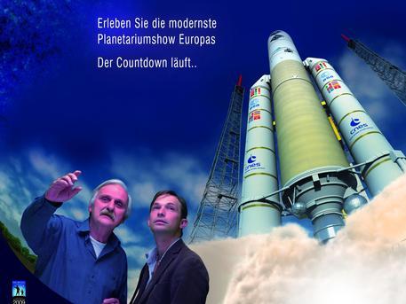 """Das Poster zum neuen ESA-Planetariumsprogramm """"Augen im All - Vorstoß ins unsichtbare Universum"""""""