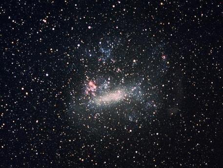 Aufnahme der Supernova 1987A in der Großen Magellanschen Wolke vom 23. Juni 1987