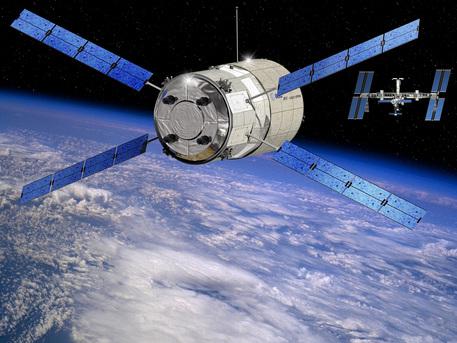Wenn sich das 8,5 Meter lange ATV auf 700 Meter an die ISS angenähert hat, übernehmen die optischen Sensoren des ATV die Navigation. Dabei tasten Infrarotlaser des so genannten Telegoniometers entsprechende Zielreflektoren auf der Außenhülle des russischen Servicemoduls ab. Anhand der Reflektionen kann der ATV-Bordcomputer die relative Lage des ATV im Raum berechnen und über seine 28 Steuerdüsen korrigieren.