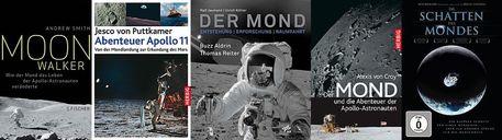 Vier Bücher und eine DVD zum Apollo-Jubiläum, die die Herzen von Mondfans höher schlagen lassen.