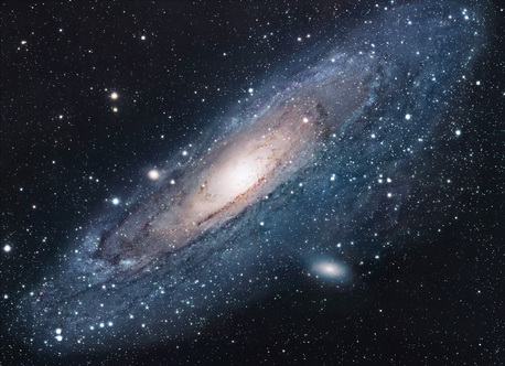 The Andromeda Nebula (familiar from science fiction) should really be called the Andromeda Galaxy. Andromeda is a spiral galaxy just like our own galaxy, the Milky Way.