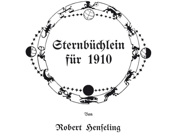 """Die Titelseite im """"Sternbüchlein 1910"""""""