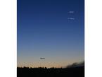 Saturn, Venus und Merkur am Morgen des 14.10.2009