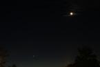 Saturn, Venus und Mond am Morgen des 15.10.2009