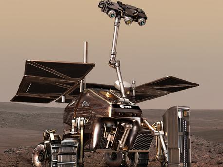 Soll 2018 mit einer Lande-Kapsel auf dem Mars abgesetzt werden und nach Leben suchen: Mars-Rover der ESA.