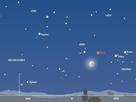 Himmelsanblick gegen 5 Uhr am 26. Februar