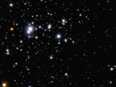 La más amplia vista con óptica adaptativa del cúmulo estelar abierto Trumpler 14