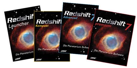 Die vier Mitglieder der Redshift-Familie