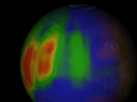 Concentraciones de metano en Marte