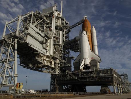 El Trasbordador Espacial Endeavour, listo para el lanzamiento