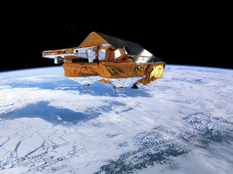 La misión CryoSat está dedicada al monitoreo preciso de los cambios en el espesor del hielo marino y de las capas de hielo que cubren Groenlandia y la Antártida.