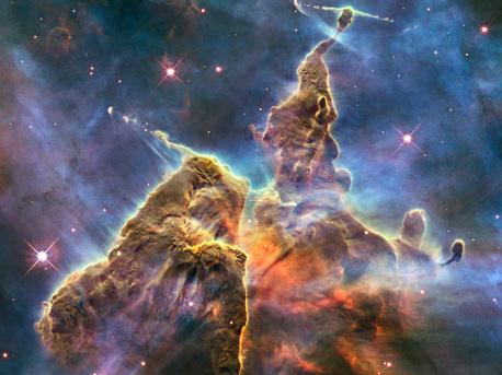 Fotografía de la 'Montaña Mística' tomada por el Hubble.