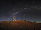 Panorama de Cerro Armazones de noche.