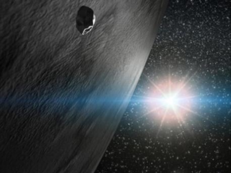 Ein Künstler Vorstellung von Asteroid Themis.
