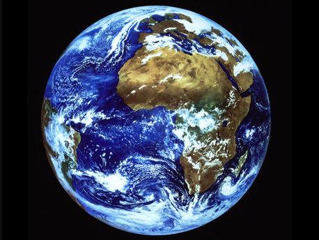 Die Erde vom Weltraum aus fotografiert.
