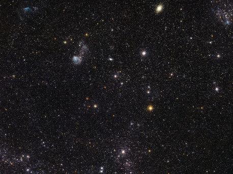 Detailreiche Ansicht eines Teils der Großen Magellanschen Wolke
