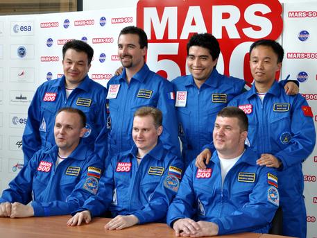 La tripulación de la misión Mars500