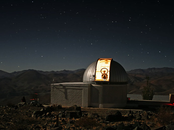 El telescopio TRAPPIST en La Silla