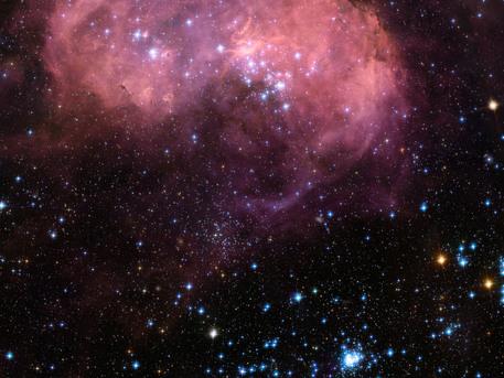 La nebulosa N11 es una activa región de formación de estrellas