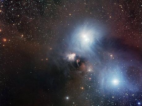 Die Himmelsregion um R Coronae Australis aufgenommen mit dem Wide Field Imager auf La Silla