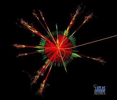 Kleine Schwarze Löcher, wie sie am LHC Speicherring in Genf entstehen könnten
