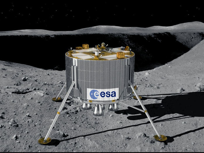 The ESA's lunar lander mission aims to land in the mountainous and heavily cratered terrain of the lunar south pole, possibly in 2018. The region may be a prime location for future human explorers because it offers almost continuous sunlight for power and potential access to vital resources such as water-ice.