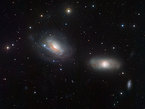 Spiral galaxies NGC 3169 and NGC 3166