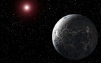 Exoplanet OGLE-2005-BLG-390Lb (knstlerische Darstellung des 2005 entdeckten Objekts, NASA)