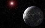 Exoplanet OGLE-2005-BLG-390Lb (künstlerische Darstellung des 2005 entdeckten Objekts, NASA)