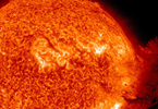 An SDO image captured on June 7, 2011, during which an eruption of solar material mushroomed up and fell down to what appeared to be nearly half the sun's surface. Credit: NASA/SDO and the AIA science team