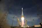 Start einer Soyuz, mit an Bord das zweite Paar von Galileo-Satelliten. Quelle: ESA–S. Corvaja, 2012