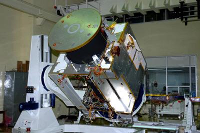 Das Lindauer Spektrometer SIR-2 nach der Integration auf der indischen Raumsonde Chandrayaan-1