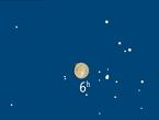 In den Morgenstunden des 13. Dezember zieht unser Mond vor dem Hauptstern des Stiers vorbei.