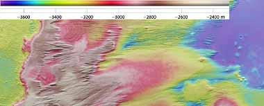 Topographische HRSC-Bildkarte von Eumenides Dorsum