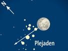 Der Mond bedeckt die Plejaden