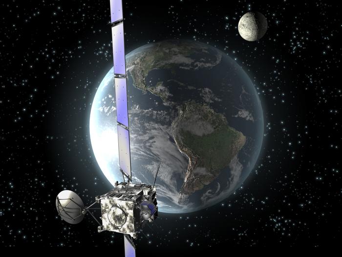 Rosettas zweite Erdumrundung am 13. November 2007