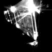 Die Sonne bestrahlt einen Flügel von Rosettas Solargeneratoren.