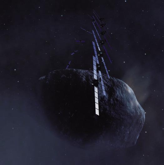 Rosetta umrundet Kometen