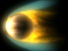 Venus und Sonnenwind treffen aufeinander