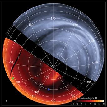 Die Venus in ultravioletem Licht und mit Infrarotstrahlung
