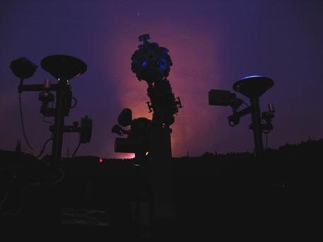 Der Zeiss-Projektor ZKP 1 des Planetariums Burg in Aktion.