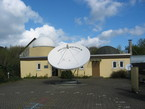 Die Sternwarte Herne mit der Planetariumskuppel (rechts).