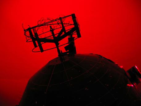 Der Planetariumsprojektor wurde von Horst Hildebrand aus Nordhausen gebaut.