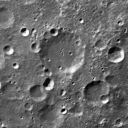 Das erste Bild, das die Mondsonde Chang´e im November 2007 zur Erde sandte.