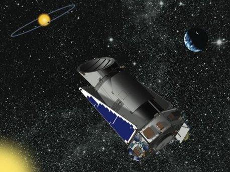 Künstlerische Darstellung des Kepler-Weltraumteleskops auf der Suche nach erdähnlichen Exoplaneten.