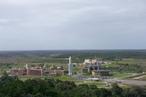 Blick auf das Technikcenter des ESA-Weltraumbahnhofs Kourou in Französisch-Guyana, etwa 14 Kilometer östlich des eigentlichen Startkomplexes
