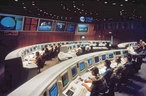 Blick in den Hauptkontrollraum des ESOC in Darmstadt