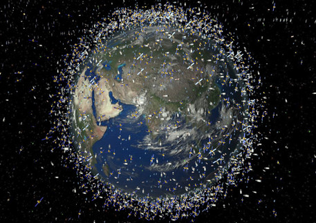 ESA simulated the space junk in the equator region.