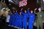 The Mars500 crew for the 105-day study prepares to enter the isolation facility on 31 March 2009. The crew will remain in the habitat at the Institute of Biomedical Problems (IBMP) until mid-July.