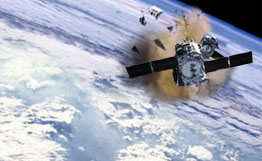 Horror scenario of crashing satellites in orbit. The conference on space debris showed costly, but necessary and hopefully effective measures to keep the orbit save.